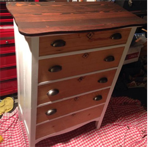 Restore antique or vintage chest of drawers stain wood
