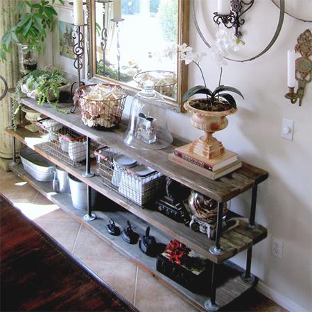 Home Dzine Home Diy Scaffolding Plank Display Table