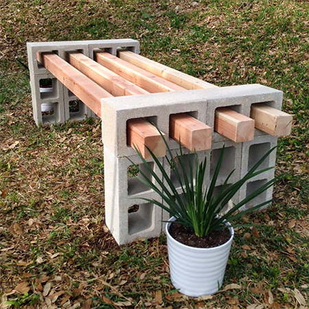 HOME DZINE Garden Concrete or wood garden bench ideas