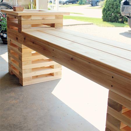 How To Make Diy Wood Slat Garden Bench