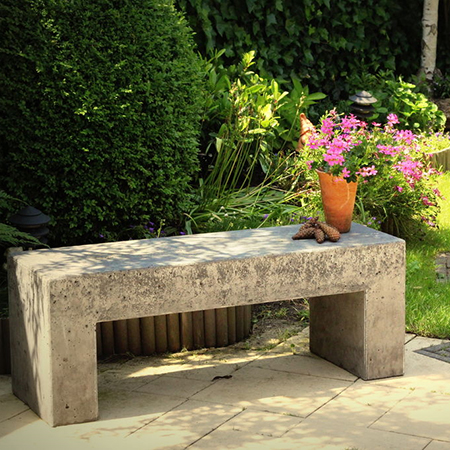 how to make diy concrete wood timber garden bench