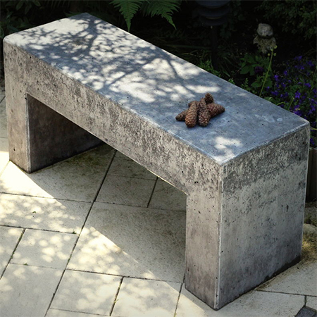 Home Dzine Garden How To Make Concrete Garden Bench