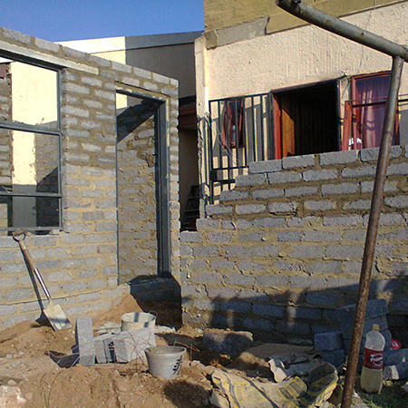 Home dzine home improvement improving an rdp house for Cheapest house foundation