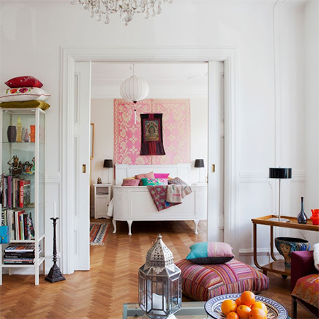 These Beautiful Homes And Apartments Show How Easy It Is To Add Colour Without Overpowering The Senses From Bohemian