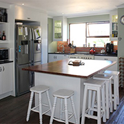 Small kitchen becomes heart of a home