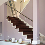 Clad concrete or steel staircase