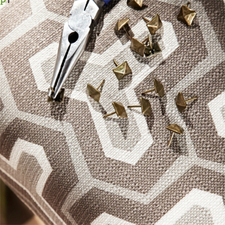 A couple of tips when using upholstery pins or nails