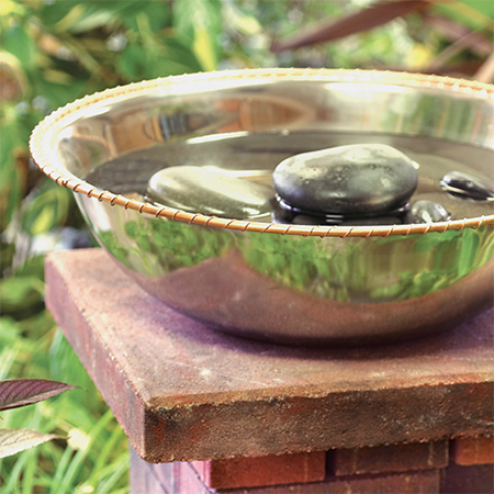 copper sheet garden bird bath
