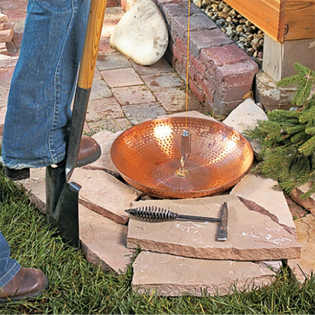 copper bowl garden rain chain add