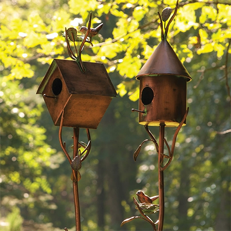 copper birdhouse