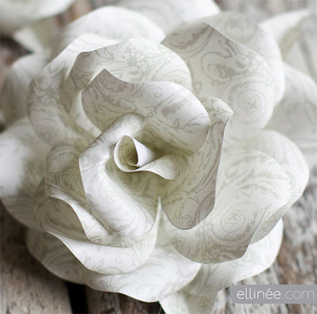 gorgeous paper roses tutortial pattern
