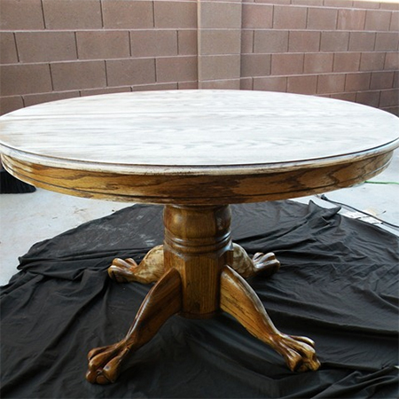 Paint dining table and chairs with Rust-Oleum