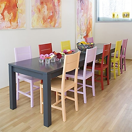 Paint dining table and chairs with Rust-Oleum 2x ultra cover