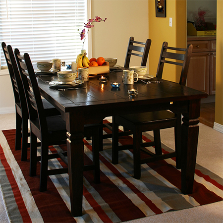 Paint dining table and chairs with Rust-Oleum kona brown