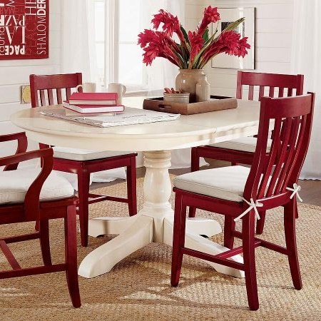 Paint dining table and chairs with Rust-Oleum 2x cranberry
