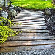Use reclaimed materials for garden paths