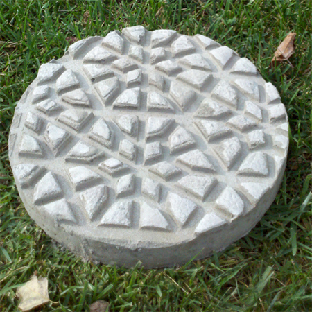 stepping stone decorative rubber mat concrete diy