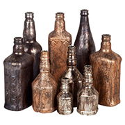 Recycled bottles into vintage decor accessories