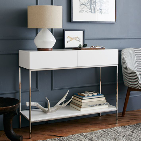 gloss finish diy ideas for console table for entrance or hall