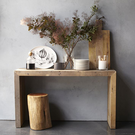 reclaimed wood console table ideas