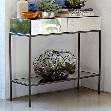 add mirror to console table