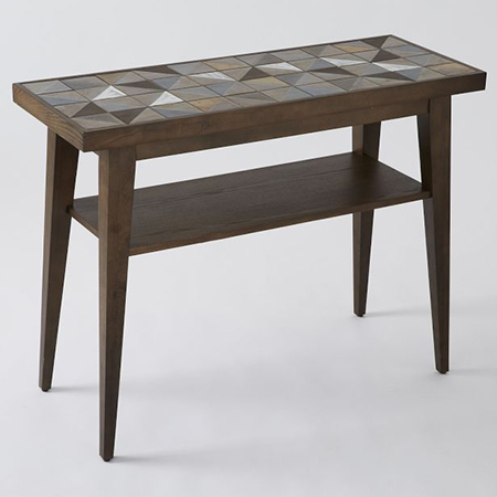 tiled top console table