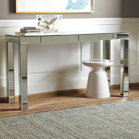 mirror finish console table