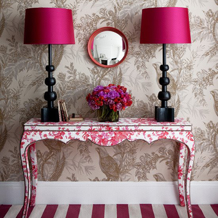 Decorate Bold Bright Colours Fabric Covered Furniture