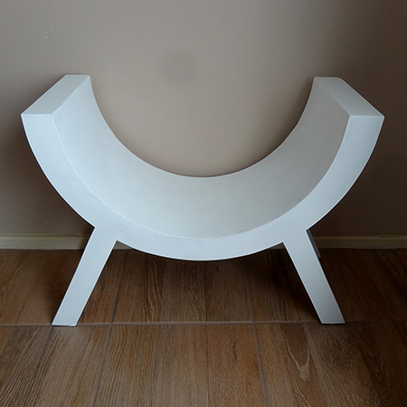 curved seat bench photo prop dressing table stool