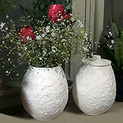 Paper mache vases or storage jars