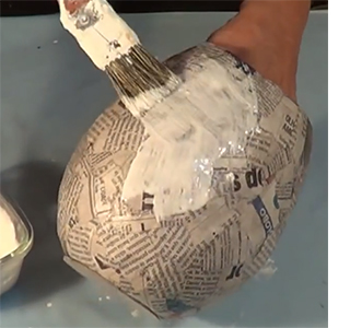 Home Dzine Craft Ideas Make These Easy Paper Mache Pots