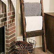 Reclaimed wood towel ladder