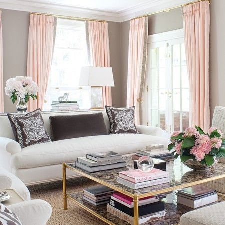 Add Romance To Interior Design Living Spaces Pink Grey Black