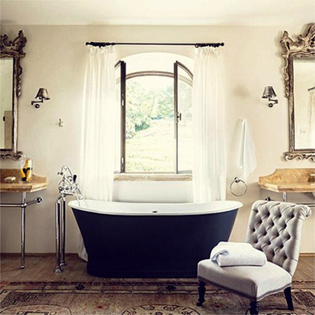 add romance to interior design living spaces vintage bathroom