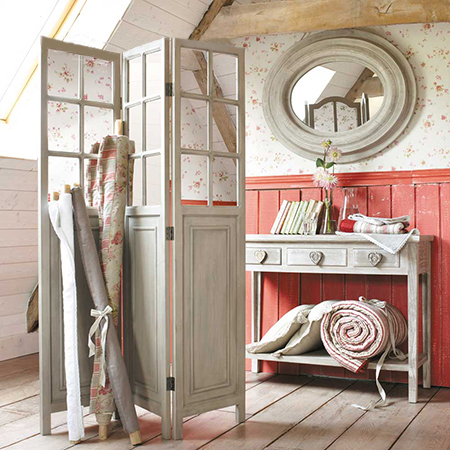 diy Decorative 3-panel privacy screen cottage or shabby chic
