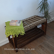 Make a jute rope bench