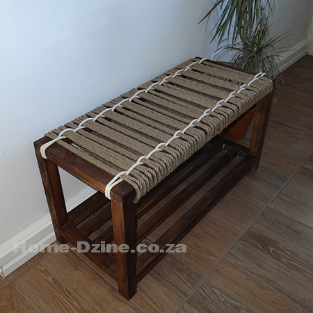 HOME DZINE Home DIY | Make a jute or rope bench