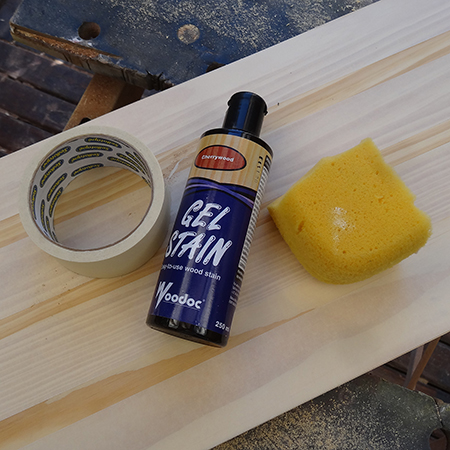 how to make a table board using gel stain