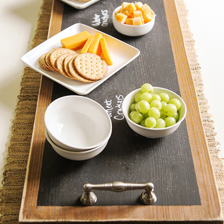 how to make a chalkboard table board