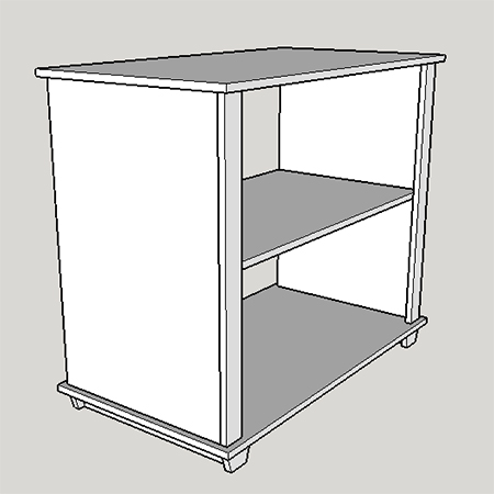 shaker home office attach top of base cabinet