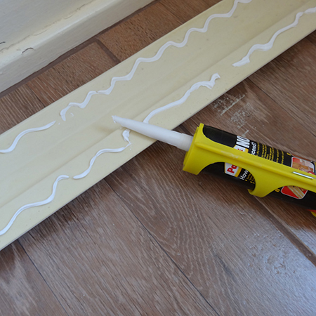 fit over skirtings over the top of existing skirting boards apply pattex no more nails adhesive