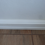 Fit and install over-skirtings