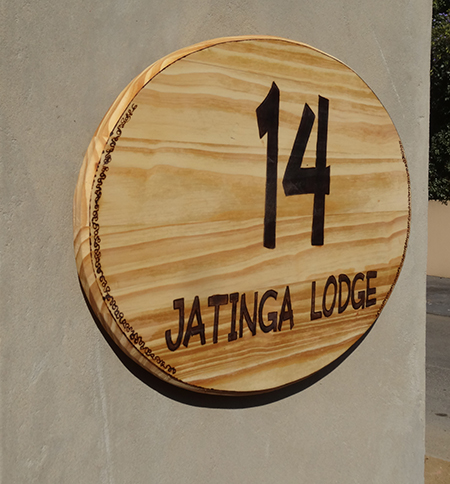 how to make custom house number plaque board mounted on wall