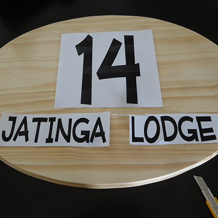 how to make custom house number plaque board use PC printer to print out numbers