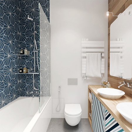 Home dzine home decor tips to make a small space larger for Bathroom designs za