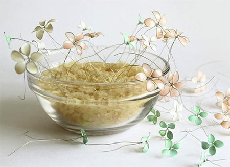 Wire Flowers | Home Dzine Craft Ideas Delicate Enamel Wire Flowers