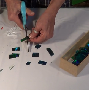 Mosaic picture frames with CDs