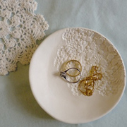 Decorative air-dry clay plate