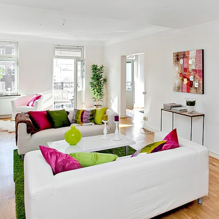 decorating with white living spaces interiors with splashes of colour