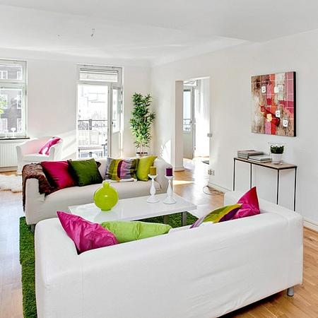 Home Dzine Home Decor White With A Splash Of Colour